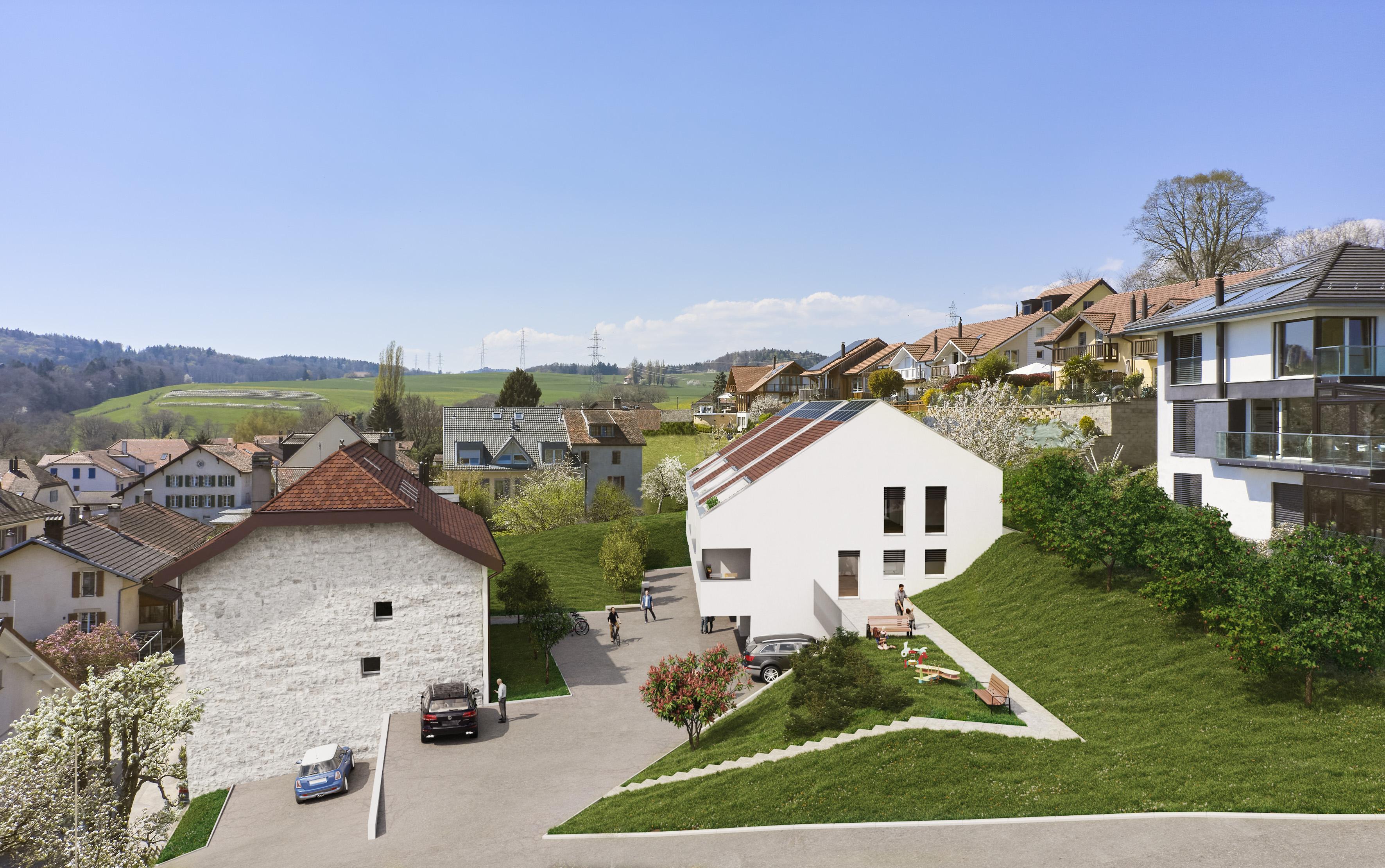 Construction neuve - 4 nouvelles villas contigües à la vente
